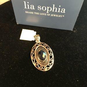 Lia Sophia beautiful blue pendant